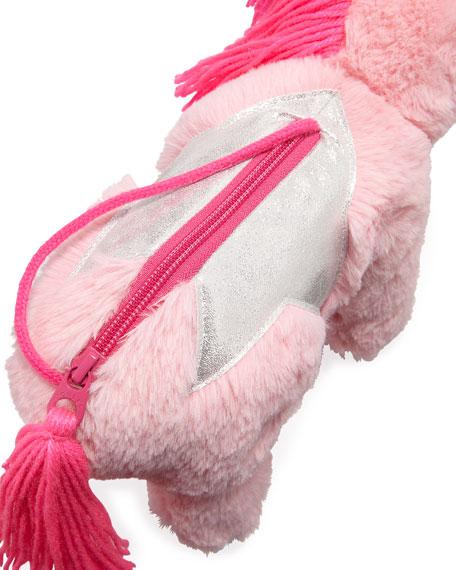 Girls' Plush Unicorn Shoulder Bag