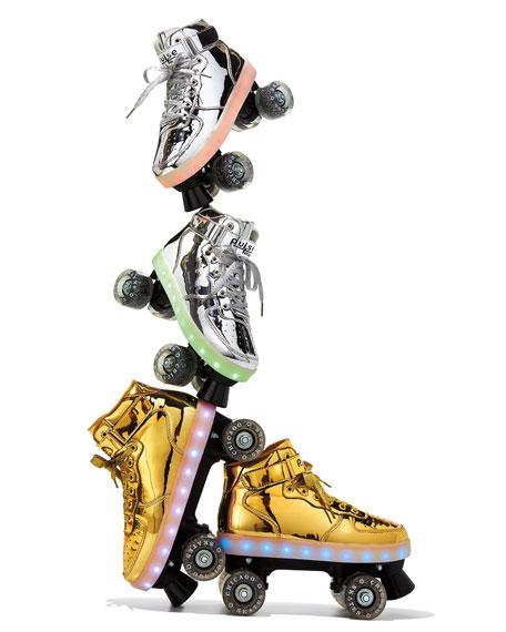 Kids' Pulse Light-Up Skates, Gold