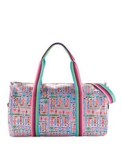 Girls' Candy-Print Shimmer Duffel Bag