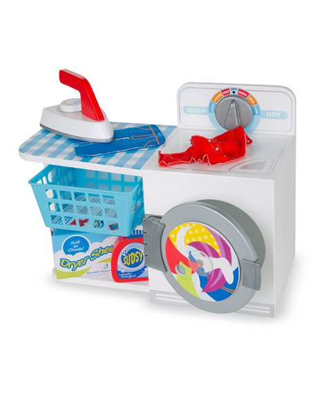 Melissa & Doug Let's Play House Wash, Dry & Iron Station
