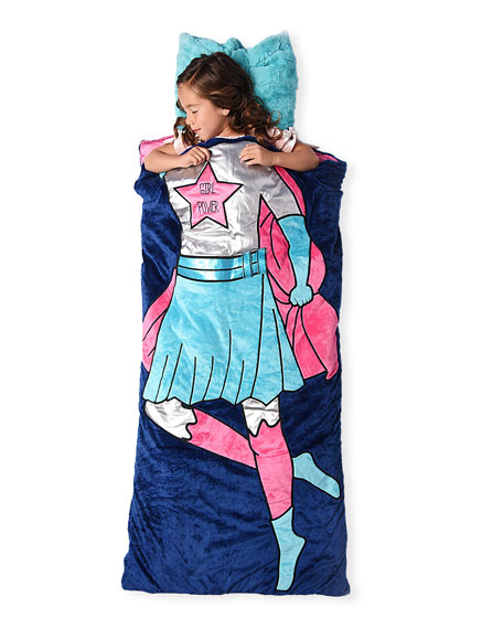 Swankie Blankie Girls' Raven Super Girl Sleeping Bag