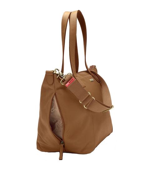 Storksak Noa Leather Diaper Tote Bag