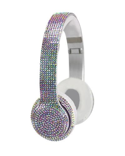 Stereo Bluetooth Iridescent Bling Headphones