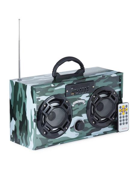 Wireless Express Kids' Retro Mini Boombox - Camo