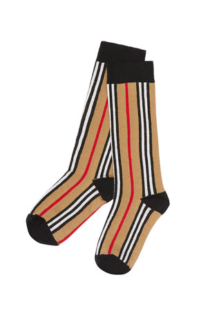 Burberry Kid's Icon Stripe Socks