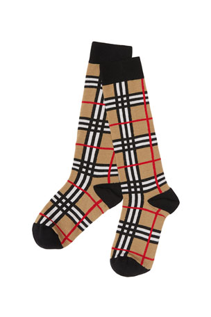 Burberry Kid's Check Socks