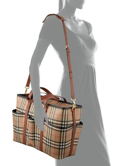 Burberry Parker Check Diaper Tote Bag