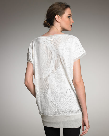 Dolman Sleeve Lace Top