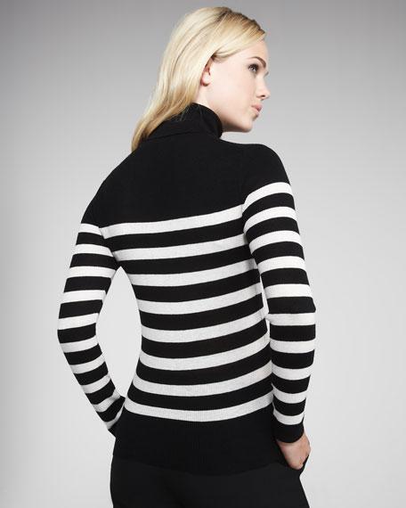 Cashmere Striped Turtlenec