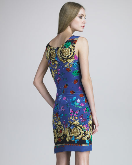 Baroque Bug-Print Dress