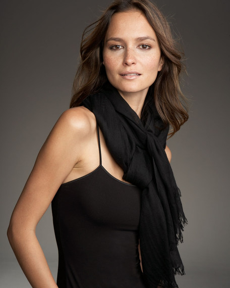 Ultra Lightweight Cashmere Stole, Black