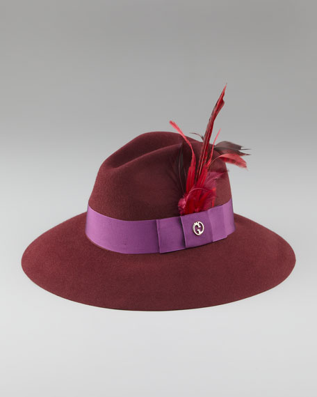 Trilby Hat with Feathers
