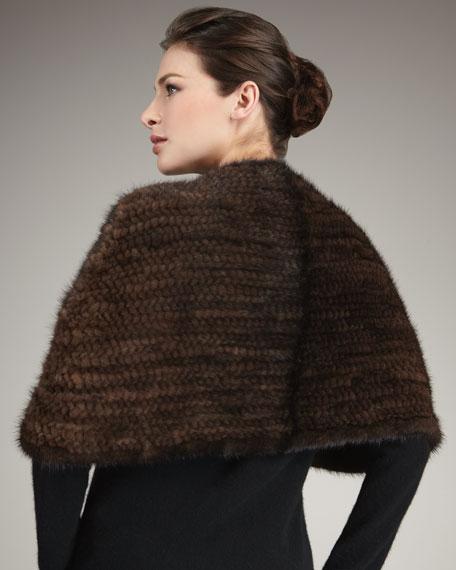 Knit Mink Fur Capelet