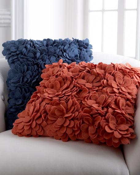 Delancey Felt Petal Pillow