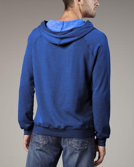 Melrose Raglan Hoodie, Blue