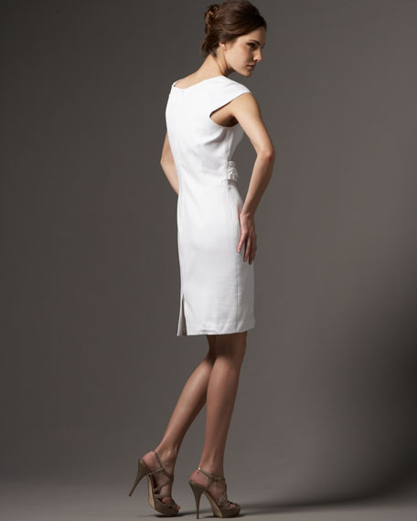 Pique-Knit Dress