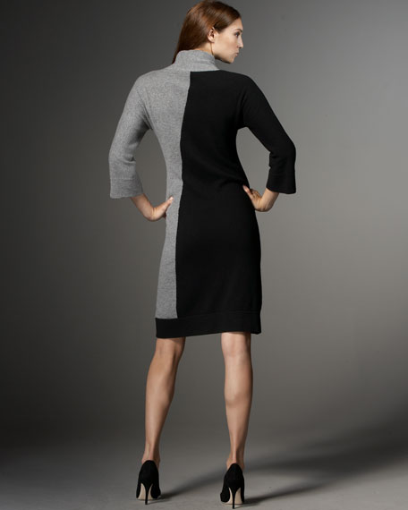 Two-Tone Cashmere Dress