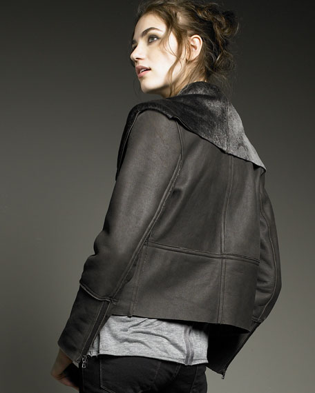 Leather and Shearling Jacket