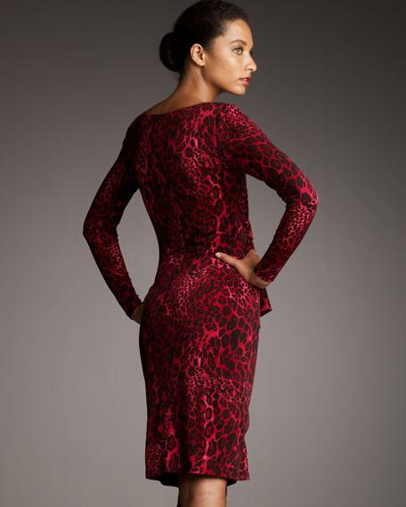 Animal-Print Jersey Dress