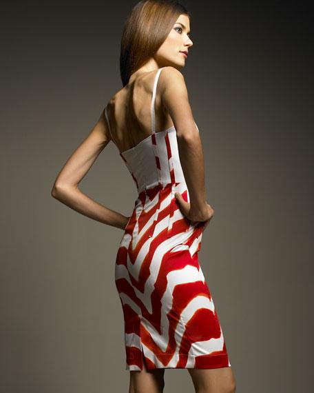 Tiger-Print Colorblock Dress