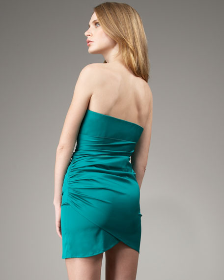 Strapless Sweetheart Ruched Dress