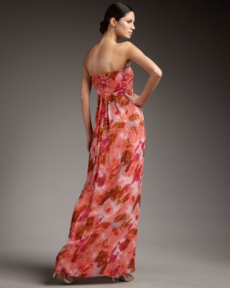 Twisted Wrap-Front Gown