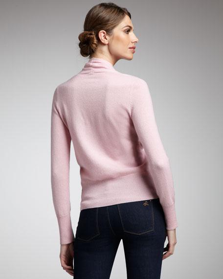 Faux-Wrap Cashmere Sweater, Women's