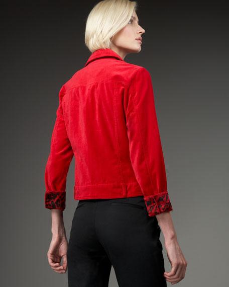 Velvet Jacket, Petite