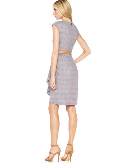 Belted Plaid Starlet Dress