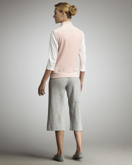 Petite Cropped Wide Leg Pant