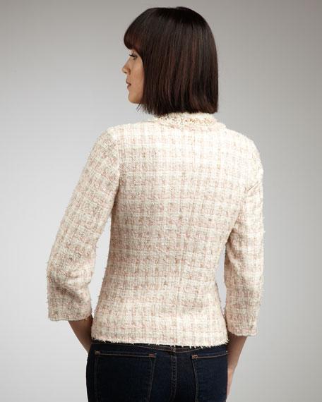 Bead-Trim Tweed Jacket