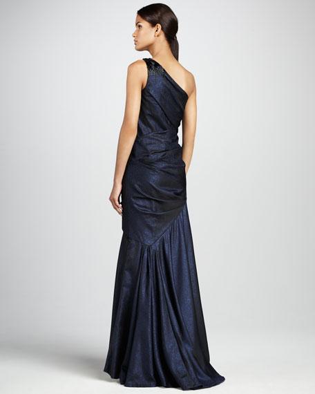 One-Shoulder Ballgown