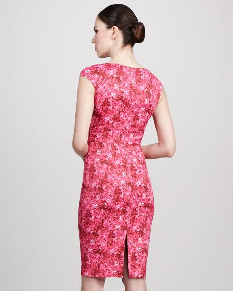 Floral-Print Asymmetric Dress
