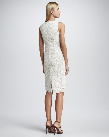 Classic Square-Neck Sheath Dress