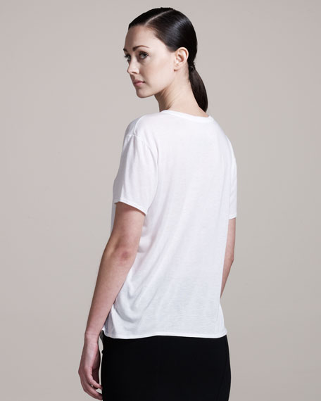 Kinetic Scoop-Neck Jersey Tee