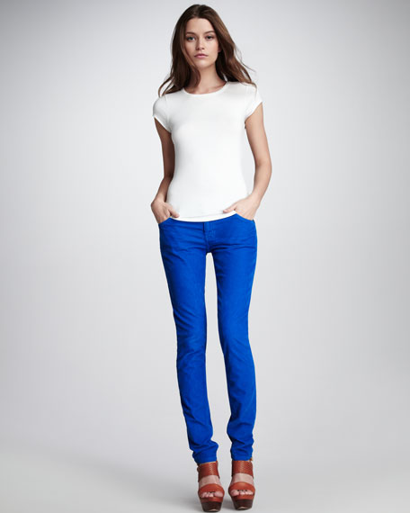 The Skinny Electric Blue Cord