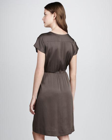 Akari Wrap-Illusion Dress