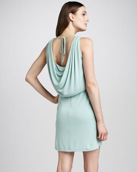 Draped Jersey Dress, Foam