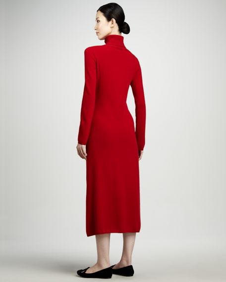 Cashmere Turtleneck Lounge Dress