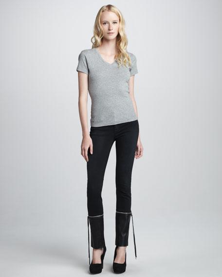 Viv Zip-Off-Cuff Skinny Jeans