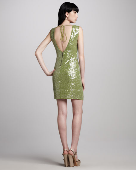 Ally Sequined V-Back Dress