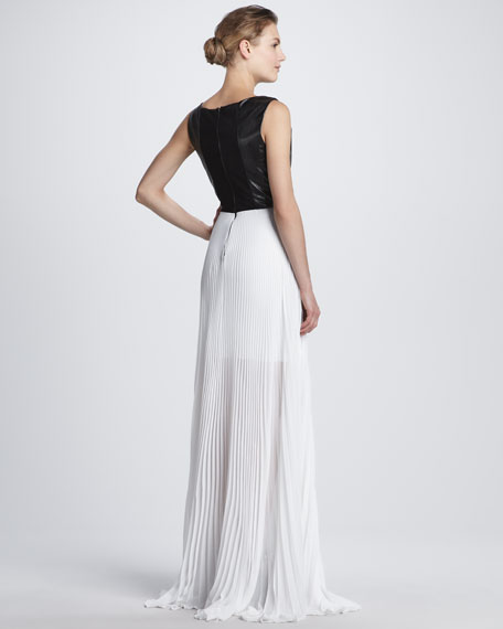 Luna Leather-Top Maxi Dress