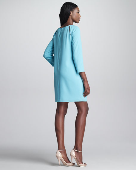 Peekaboo Shoulder Shift Dress