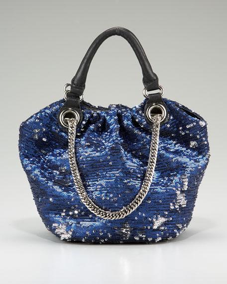 Sequined Crossbody Bag