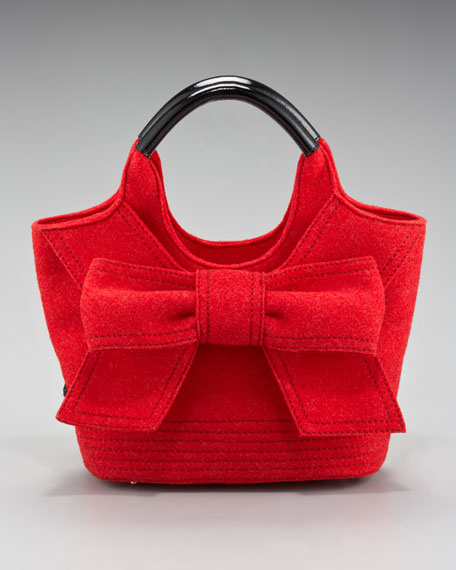 tate bow-front tote