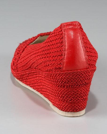 Crochet Espadrille Wedge