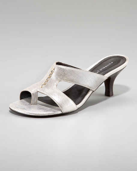 Toe Ring Kitten-Heel Sandal