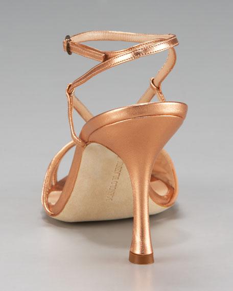 Ankle-Wrap Strappy Sandal