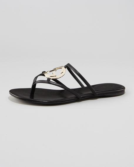 GG Cage Flat Thong Sandal
