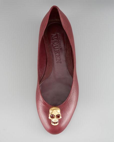 Skull Ballerina Flat